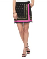 Juicy Couture Ponte Embellished Wrap Skirt