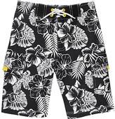 Gymboree Black Floral Boardshorts - Boys