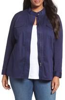 Sejour Plus Size Women's Twill Utility Jacket
