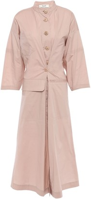 Sea Sienna Stretch-cotton Broadcloth Midi Shirt Dress
