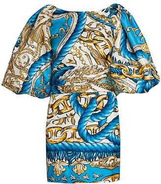 Moschino Chain Puff Sleeve Mini Dress