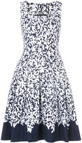 Oscar de la Renta pleated printed dress - women - Cotton/Spandex/Elastane - 2