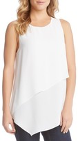 Karen Kane Women's Asymmetrical Double Layer Top