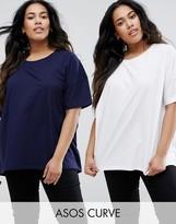 Asos Super Oversized T-Shirt 2 Pack