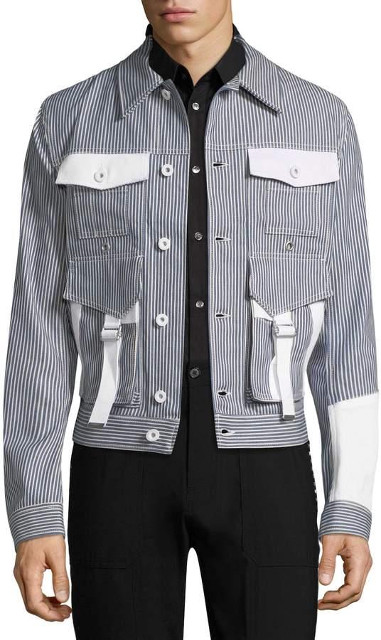 Diesel Black Gold Men's Jost Stripe Cotton Caban Jacket
