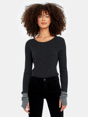 Naadam Long Sleeve Cashmere Crewneck Sweater