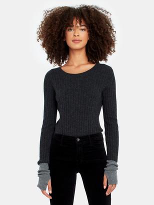 Naadam Long Sleeve Cashmere Crewneck Sweater