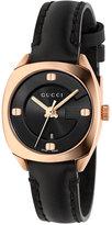 Gucci Women's Swiss GG2570 Black Leather Strap Watch 29mm YA142509