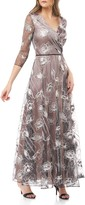 JS Collections Embroidered Chiffon A-Line Gown