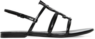 Saint Laurent 10MM CASSANDRA PATENT LEATHER SANDALS