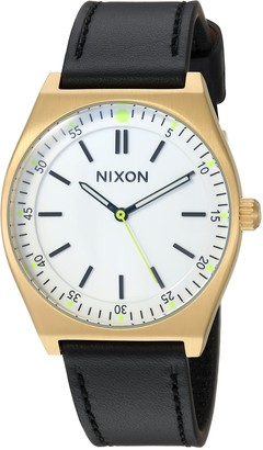 Nixon Women's Crew Stainless Steel Japanese-Quartz Watch with Leather-Synthetic Strap