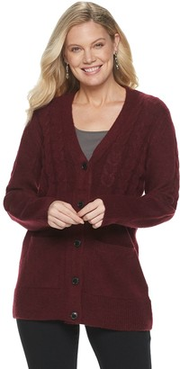 Croft & Barrow Women's Cable-Knit Long Cardigan