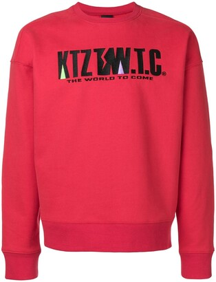 Kokon To Zai Mountain Letter Embroidered Sweatshirt