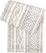 Tadpoles Cableknit Print Blanket