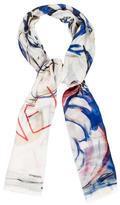 Chanel 2015 Graffiti Cashmere Silk Stole