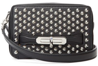 Alexander McQueen Studded Leather Camera Bag - Womens - Black