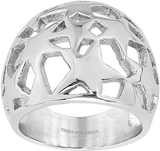 Steel by Design Dome Open-Star Ring