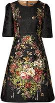 Dolce & Gabbana Floral Silk-Blend Cocktail Dress