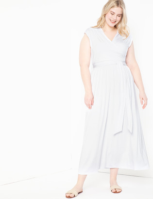 ELOQUII Tie Waist Maxi Dress