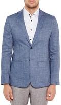 Ted Baker Crosshatch Regular Fit Linen Sport Coat