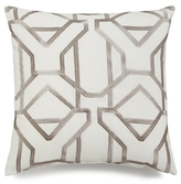 """Hallmart Collectibles Geo Embroidered 20"""" Square Decorative Pillow"""