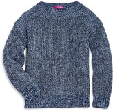 Aqua Girls' Marl-Knit Sweater, Big Kid - 100% Exclusive
