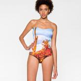 Paul Smith Women's 'Cactus' Photo Print Bandeau Swimsuit