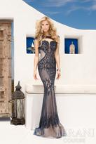Terani Evening - Illusion Bateau Neckline Fully Embellished Evening Gown 1621GL1906