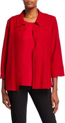 Caroline Rose Paris Plush Mid-Length Easy Jacket