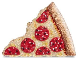 Judith Leiber Crystal Pizza Bag