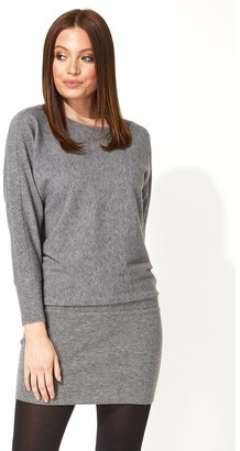 M&Co Roman Originals ribbed knitted tunic dress