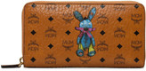MCM Rabbit Large Zip Around Wallet