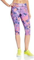 Champion Women's Absolute Workout Knee Tight Print, Fresh Berry Painted Floral Dream