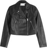 Alexander Wang Cropped Leather Biker Jacket