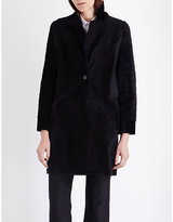 Karl Donoghue Collarless reversible shearling coat