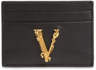 Versace Virtus Leather Card Holder