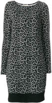MICHAEL Michael Kors leopard and houndstooth printed dress