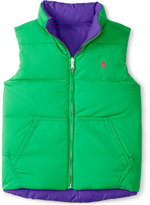Ralph Lauren Reversible Down Full-Zip Vest, Girls (7-16)