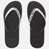 Hunter Women's Original Exploded Logo Flip Flops Black