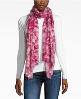 Echo Painted Floral Wrap & Scarf in One