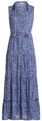 Poupette St Barth Clara Ditsy Floral Maxi Dress