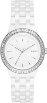 DKNY Park Slope White Ceramic Watch With Glitz