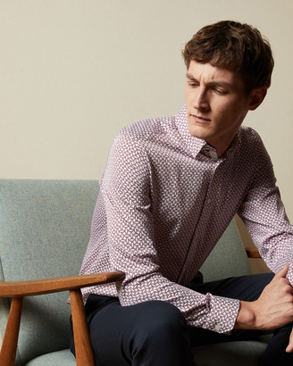 Ted Baker HEDOES Geo print cotton shirt