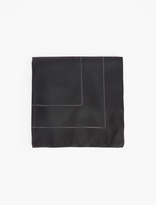 Paul Smith Black & Charcoal Silk Pocket Square