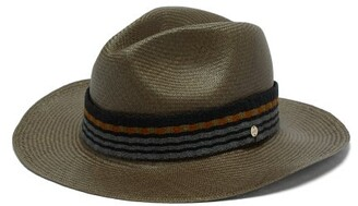 Guanabana - Wide-brimmed Straw Panama Hat - Mens - Grey