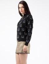 MAISON KITSUNÉ Black Fox Allover Pullover Jacket