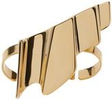 Saint Laurent Gold Babylone Two-Finger Ring