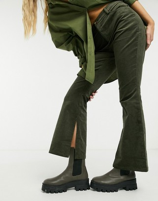 Glamorous flare trousers in brown corduroy