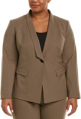 Lafayette 148 New York Plus Ashley Wool-Blend Jacket