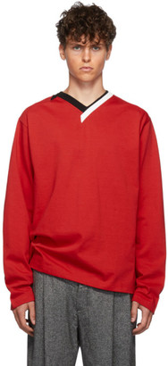 Y/Project Red Multi-Collar T-Shirt